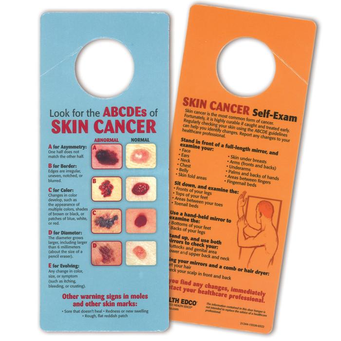 skin cancer self-exam door hanger