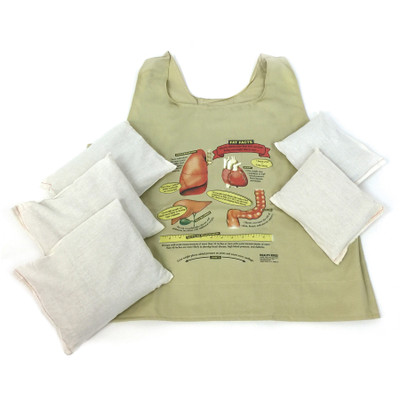 fat vest adult size with weights, weighted vest, feel of weight gain, obesity, Health Edco, 26003