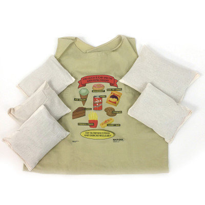 fat vest child size with weights, weighted vest, feel of weight gain, childhood obesity, Health Edco, 26004