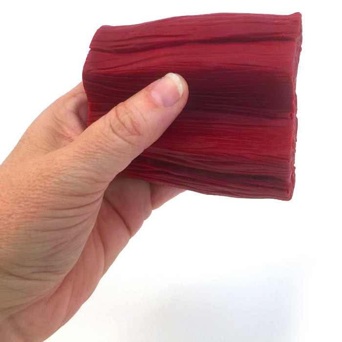 mighty muscle model, 1 pound of flexed muscle tissue look and feel, held in hand, Health Edco, 26021