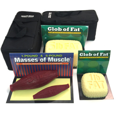 globs of fat, masses of muscle, models, 1 and 5 pounds, look and feel, Health Edco, 26040