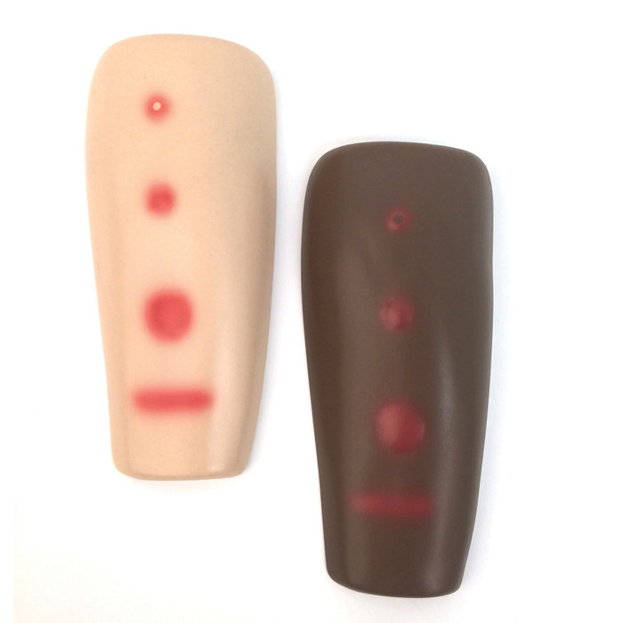 TB Testing Arm Set, beige and brown models, Mantoux test results, show TB reactions, Health Edco, 26593