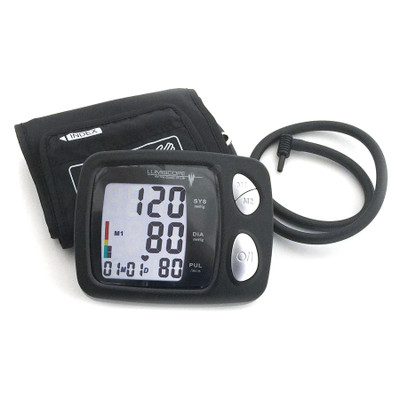 Automatic Blood Pressure Monitor, auto inflating digital LCD display cuff, Health Edco, 30149