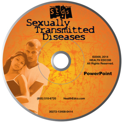 STDs PowerPoint, 38-frame graphic STD presentation on disc, Health Edco, 30272