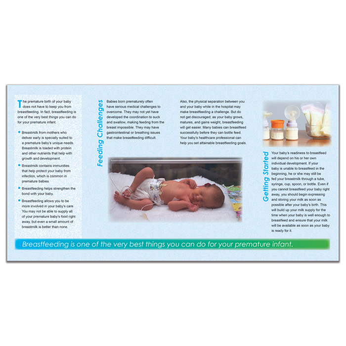 Breastfeeding A Preemie Baby Pamphlet  Childbirth Graphics-7180