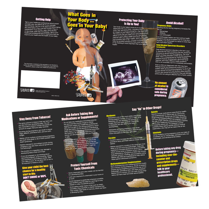 drug dangers during pregnancy pamphlet childbirth graphics