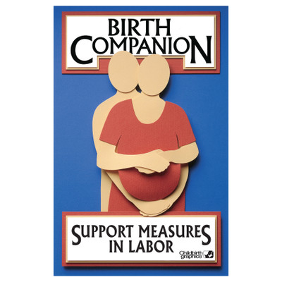 Birth Companion Booklet by Childbirth Graphics with color images and instant visual reminders of labor comfort methods, 38525