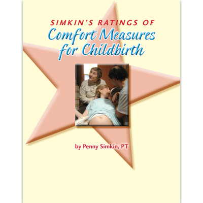 Comfort Measures for Childbirth 24-page illustrated booklet cover, Childbirth Graphics 38647