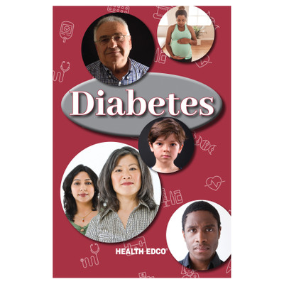 Diabetes 16-page booklet cover, various ages and ethnicities of people, Health Edco, 40065