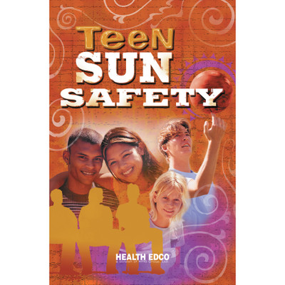 Teen Sun Safety Booklet, 16 page 4-color booklet cover collage of teen faces with title, Health Edco, 40066