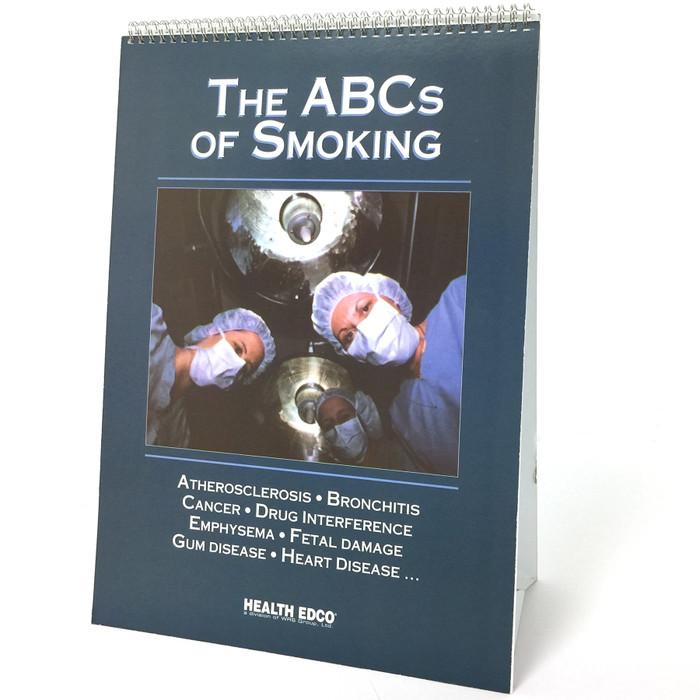 The ABCs of Smoking Flip Chart English/Spanish, 6-panel spiral-bound flip chart cover English side, Health Edco, 43106