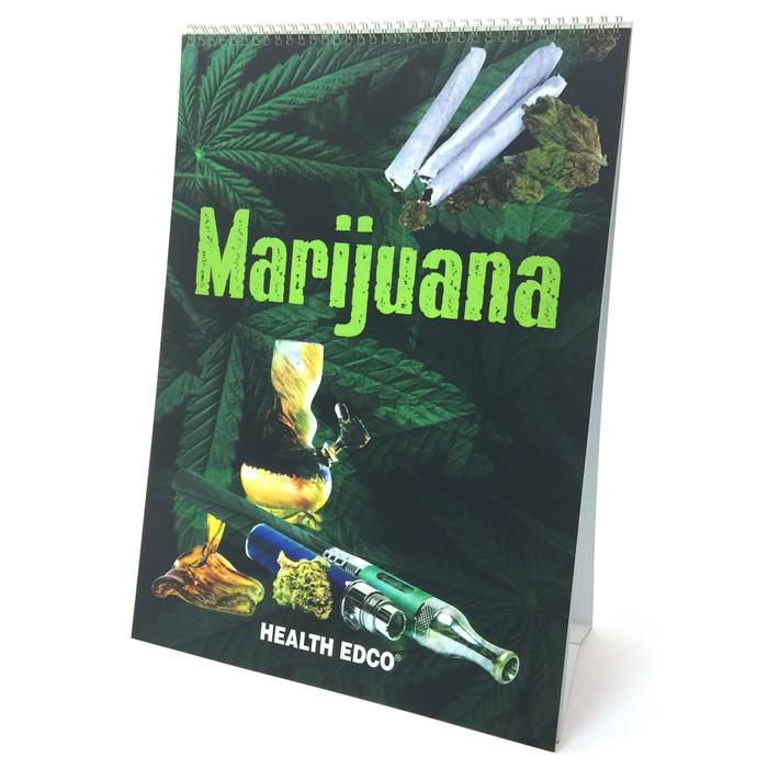 Marijuana Flip Chart, drug and substance abuse education materials from Health Edco, marijuana dangers teaching tools, 43111