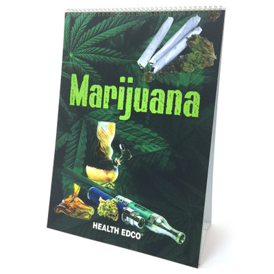 Marijuana Flip Chart, drug and substance abuse education materials from Health Edco, marijuana dangers teaching tools, 43111