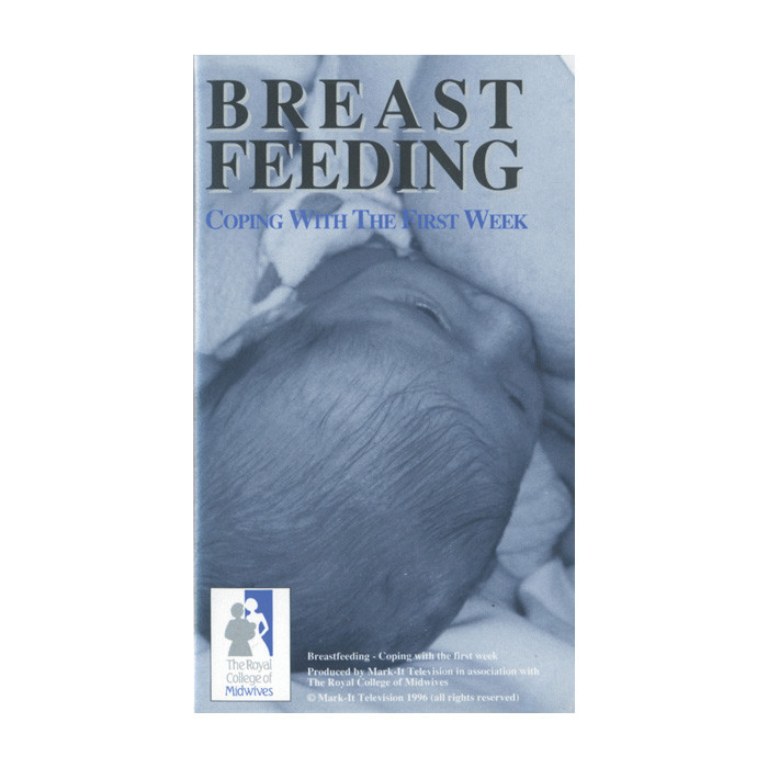 Breastfeeding Coping with First Week DVD, cover closeup of baby breastfeeding engorged breast, Childbirth Graphics, 45642