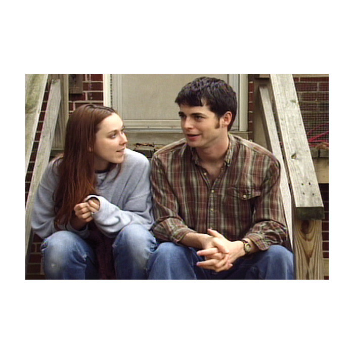 Interactive Nights Out 1 CD-ROM, teen couple sitting on stoop talking, Health Edco, 48001