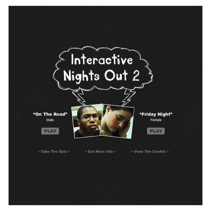 Interactive Nights Out 2 educational DVD-Rom for teens covering drugs, alcohol, and peer pressure, Health Edco, 48002