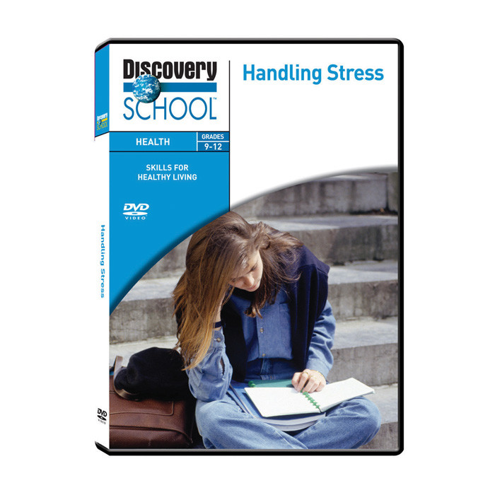 Handling Stress educational DVD for teens, stress management health education materials, Health Edco, 48280