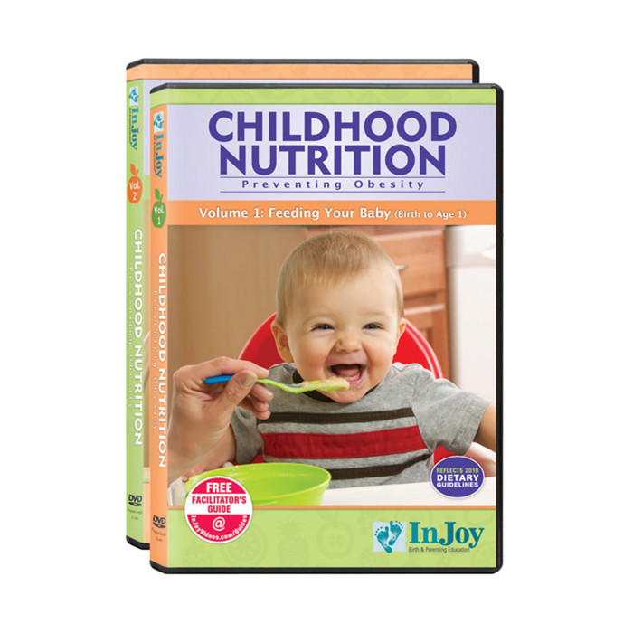 Childhood Nutrition Preventing Obesity 2 volume DVD set birth-age 5 for parents & caregivers, Childbirth Graphics, 48875