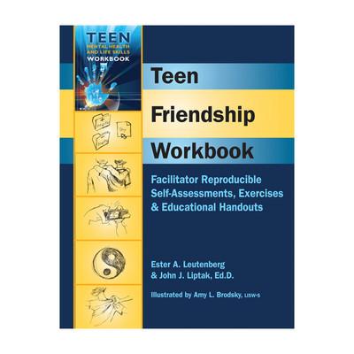 Teen Friendship Workbook, reproducible self assessments exercises education handouts, Health Edco, 50201