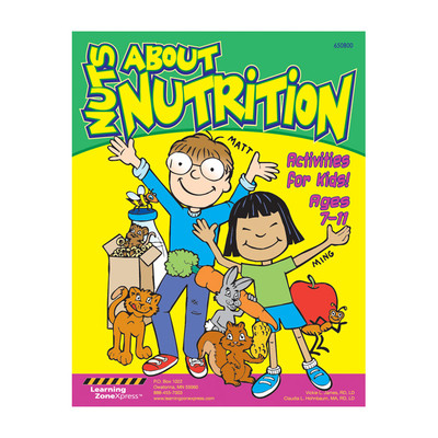Nuts About Nutrition Activity Book Ages 2-6, 8 pages, cartoon activities, Health Edco, 50393