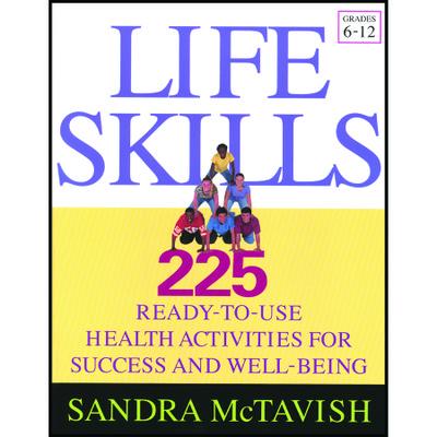 Life Skills 225 health activities book grade 6-12 cover, pyramid of kids, Health Edco, 50852