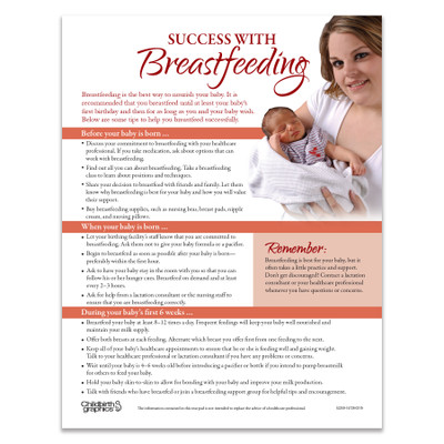 Success with Breastfeeding Tear Pad English side, before birth, when born to 6 weeks, Childbirth Graphics, 52259