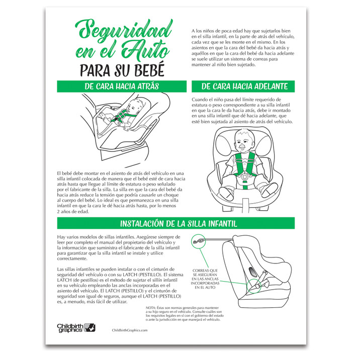 Car Safety for Your Baby Tear Pad from Childbirth Graphics for childbirth and early parenting and teaching, 52528