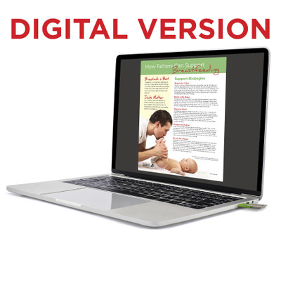 How Fathers Can Support Breastfeeding Tear Pad, virtual, digital new fathers teaching resource by Childbirth Graphics, 52652V
