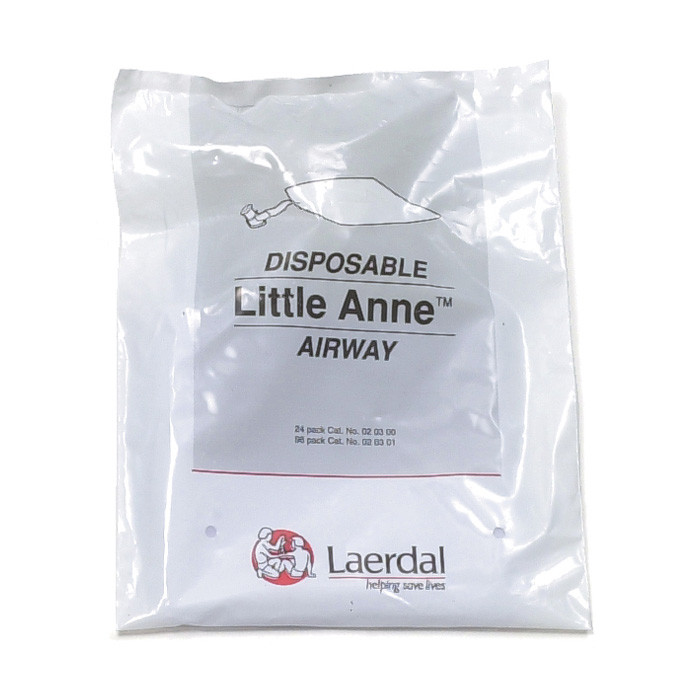 Little Anne Replacement Airways, plastic bag of 24 disposable Little Anne Airways, Health Edco, 56205
