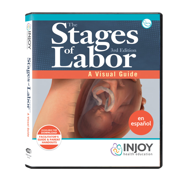 The Stages of Labor 3rd Edition: A Visual Guide USB, Spanish, childbirth education materials, Childbirth Graphics, 71421