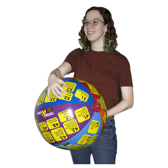 Student with Drugs and Alcohol Throw & Know Ball for drug education and health teaching activity, Health Edco, 78036