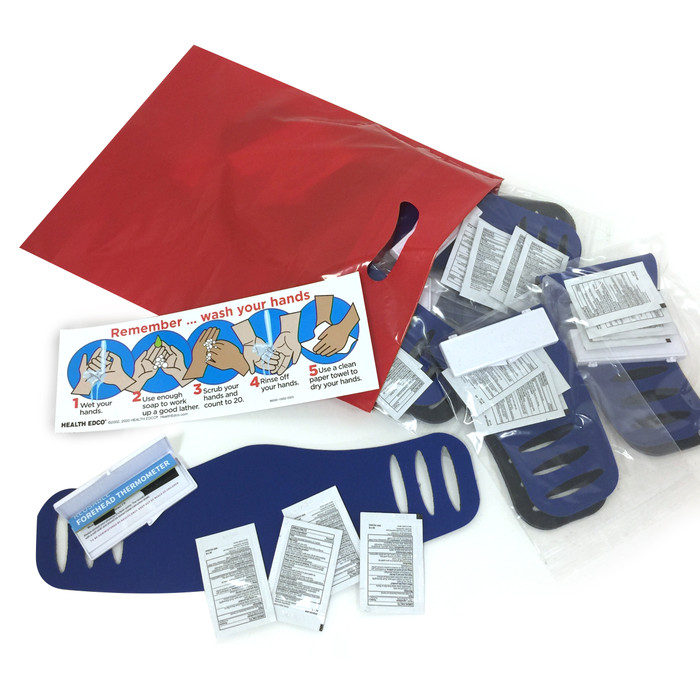 Virus Protection Package for health education and illness prevention by Health Edco with ten individual kits, 78850