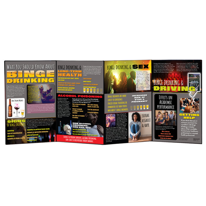 What You Should Know About Binge Drinking alcohol education folding display for health education from Health Edco, 79021