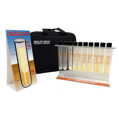 Fat Facts: Vending Machine Test Tubes, heath education and nutrition test tube teaching set with case, Health Edco, 79136