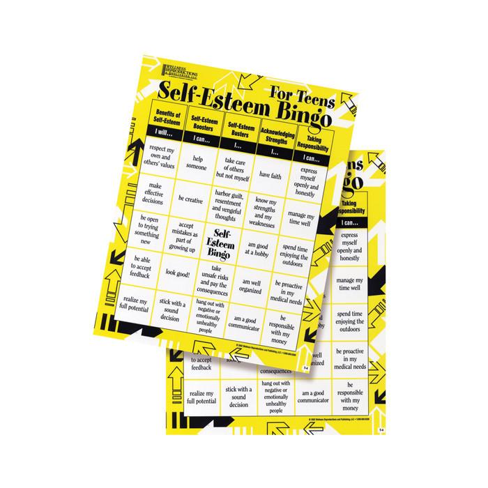 Self Esteem Bingo for Teens