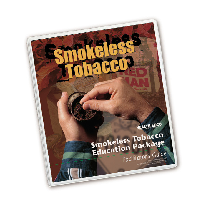 Health Edco's Smokeless Tobacco Education Package facilitator guide with activities for smokeless tobacco education, 79374