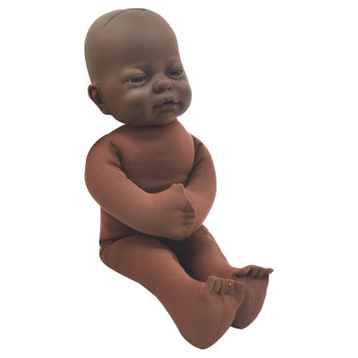 Fetal Model with dark brown skin tone, childbirth education materials, childbirth teaching tools, Childbirth Graphics, 79816