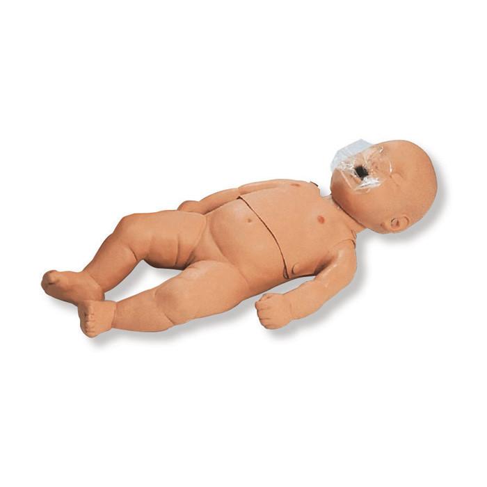 CPR Infant Manikin, infant manikin sternum ribcage with substernal notch simulates head/chin tilt, Health Edco, 84369