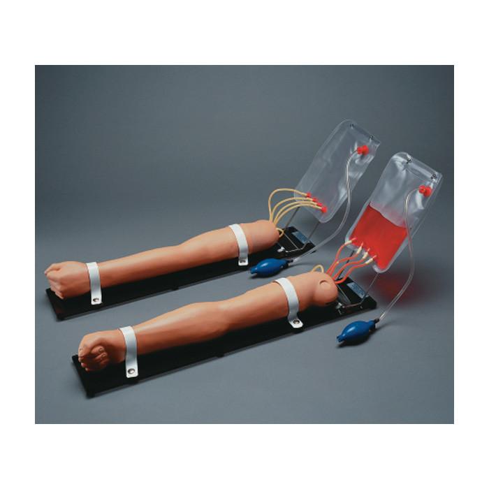 Advanced Multipurpose Venous Training Arm Model, IV IM subcutaneous training simulated blood & pressure bulb, Health Edco, 84374
