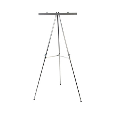 Display Easel With Flip Chart Bar, aluminum easel with flip chart bar telescoping legs, Health Edco, 85497