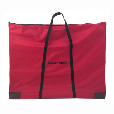 Extra Large Display Carrying Case by Health Edco, zippered red carrying case to transport health education displays, 96102