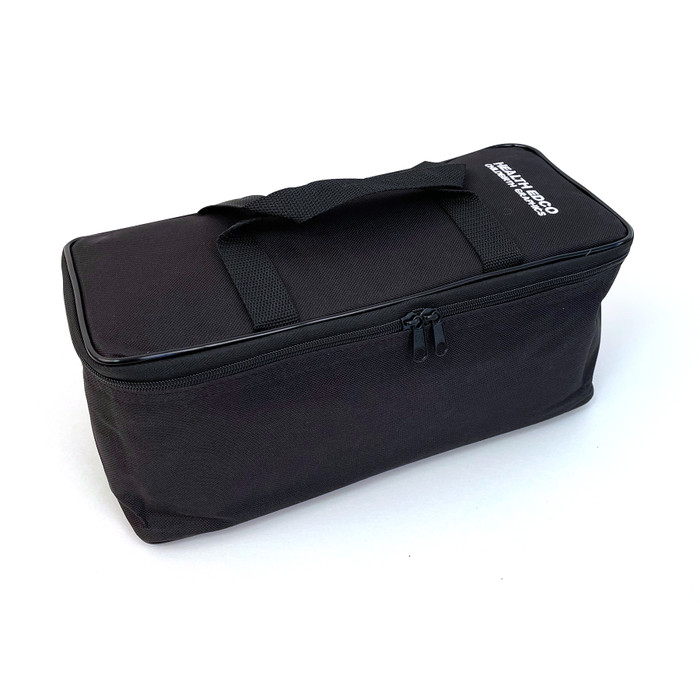 Green Nylon Case with black zipper & black binding. Monogrammed with Health Edco, 96516