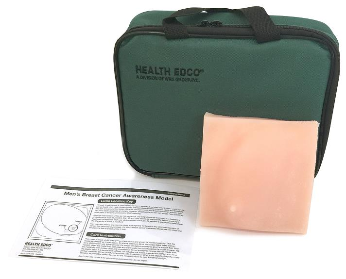 Men's Breast Cancer Awareness Model with Case and Instruction Card